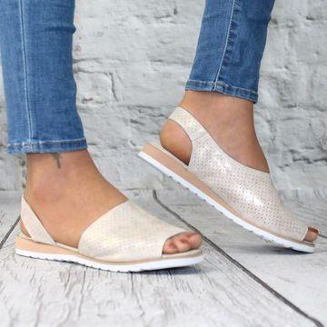 Sandaly Damskie Zlote Buty Lekkie Sandalki 8141006763 Oficjalne Archiwum Allegro Shoes Espadrilles Fashion