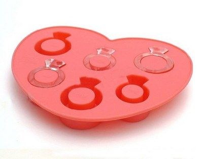 Silicone Ring Mold Ice Tray Diamond Design Cake Clay Fondont Wedding Party W