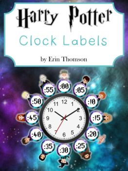 Harry Potter Clock Labels By Erin Thomson S Primary Printables Teachers Pay Teachers Clock Labels Harry Potter Clock Classroom Themes