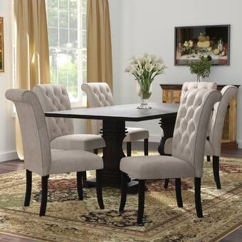 Birch Lane Heritage Chevaliers 6 Piece Drop Leaf Dining Set Reviews Wayfair Solid Wood Dining Set Dining Room Small Dining Room Sets