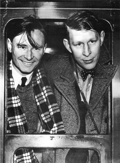 Christopher Isherwood and W. H. Auden (uncredited).  ~Repinned Via Roy Kenagy