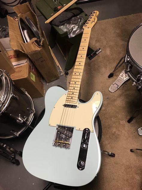 American special tele in daphne blue. Man thats pretty. Guitar Girl, Music Guitar, Cool Guitar, Playing Guitar, Blue Electric Guitar, Fender Electric Guitar, Cool Electric Guitars, Fender Stratocaster, Hippo Campus