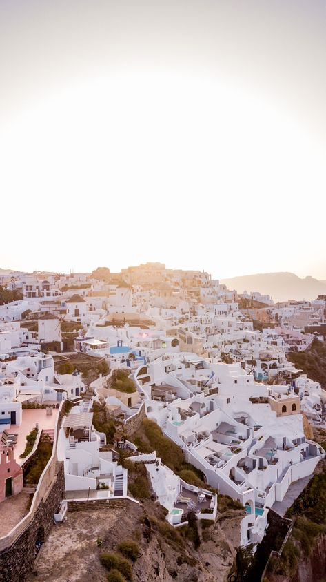 Santorini from a Drone