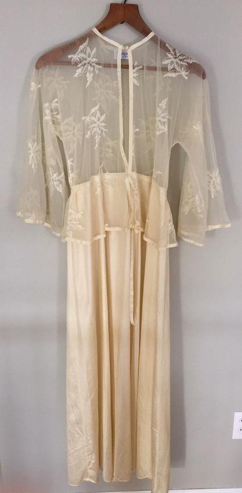 6d8e3610bde Vintage Lingerie Sheer Nightgown ~ 1960s Pin Up Vintage Nightgown ~ Boudoir  Lingerie ~ Nightie ~