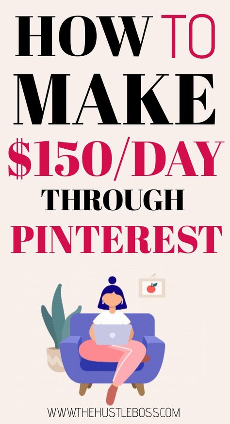 Here is how to start making passive income online and make money through Pinterest working part time