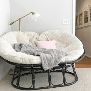Papasan Double Taupe Chair Frame Romantic Bedroom Decor Taupe