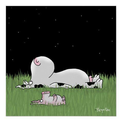 Cow and Pig Meteor Watch Poster #cow #pig #piggy #cartoon #friendship #cartoonart #funnycreatures #bigkids