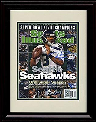 premium selection ea98c 66891 Amazon.com: Framed Russell Wilson Sports Illustrated ...