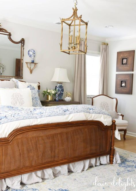 The Delightful Home {Master Bedroom} – Dixie Delights Home Bedroom Design, Bedroom Decor, Bedroom Ideas, English Decor, Blue Bedroom, Guest Bedrooms, Beautiful Bedrooms, Traditional House, Interior Design