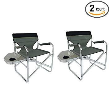 Folding Directors Chair With Side Table.Onwaysports Aluminum Frame Director Chair With Side Table