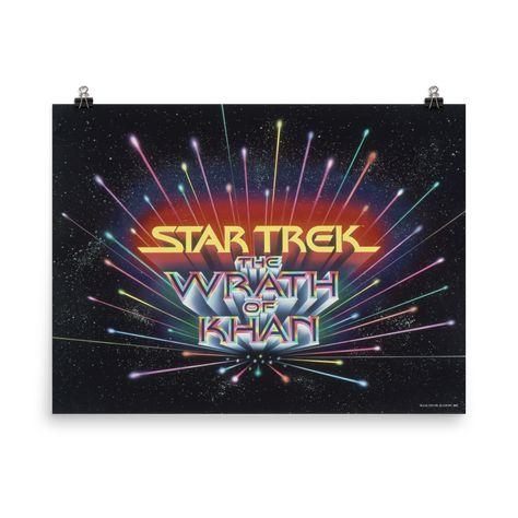 Star Trek II: The Wrath of Khan Premium Satin Logo Poster - 36 x 48
