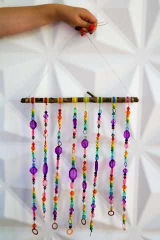 Diy Beaded Wind Chime Wind Chimes Kids Diy Wind Chimes Wind Chimes
