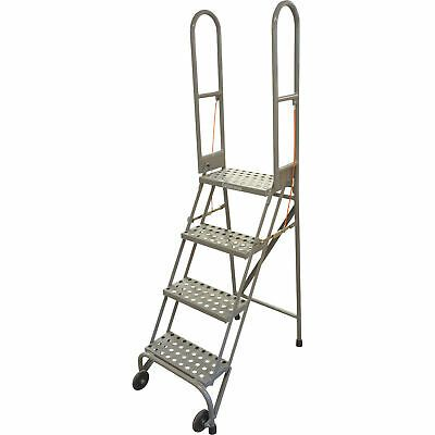 Ad Ebay Cotterman Folding Rolling Ladder 4 Steps 350 Lb Capacity Perforated Tread In 2020 Rolling Ladder Perforated Steel Casters