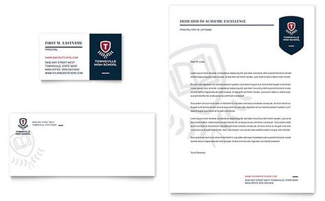 High School Letterhead Template Download Pinterest - letterhead template word free