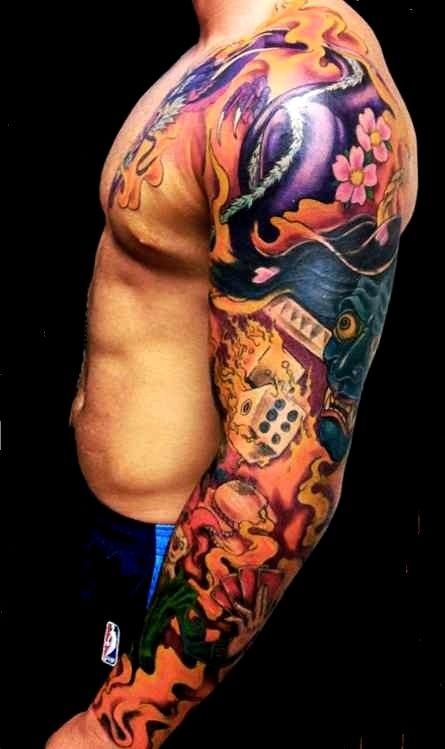 Color Tattoo Sleeve Gallery Full Sleeve Tattoo Design Sleeve Tattoos Tattoo Designs Men