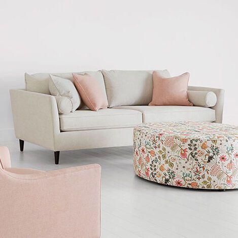 Carrah Sofa In 2020 Sofa Images Love Seat Ethan Allen Sofa