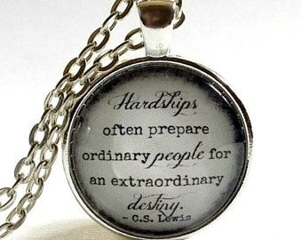 C.S Lewis Quote Necklace Inspirational Jewellery Gift for Women Book Lover Pendant