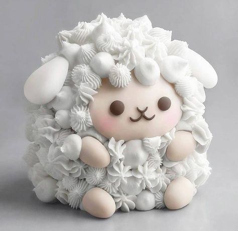 i couldnt find another place to put it in, but heres a sheep cake! not mine though : aww Pretty Cakes, Cute Cakes, Beautiful Cakes, Amazing Cakes, Crazy Cakes, Tolle Desserts, Fun Desserts, Disney Desserts, Healthy Desserts