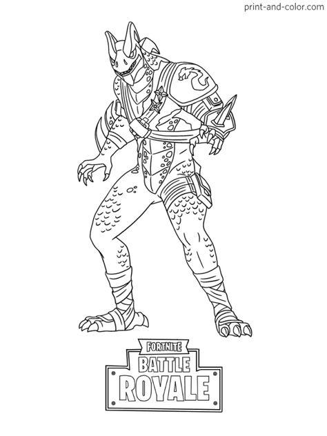 Fortnite Battle Royale Coloring Page Master Key Skin Season 8