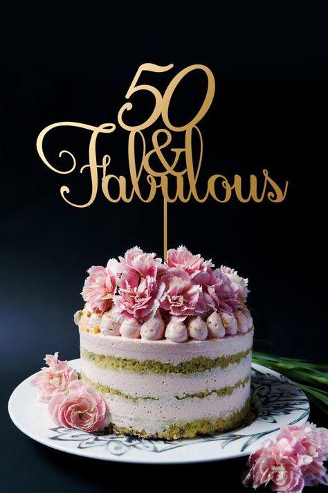 Astonishing 50Th Birthday Cake Topper Anniversary Cake Topper 50 And Personalised Birthday Cards Veneteletsinfo