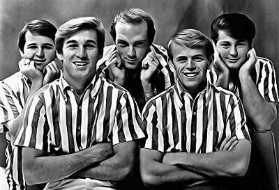 Details About Beach Boys Poster 13x19 Fine Art Canvas Black And