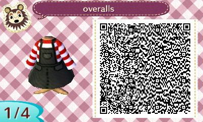 Acnl Qr Codes Edition Heartleycrossing Red Overalls Anit They Just Animal Crossing Qr Codes Animal Crossing Animal Crossing Qr