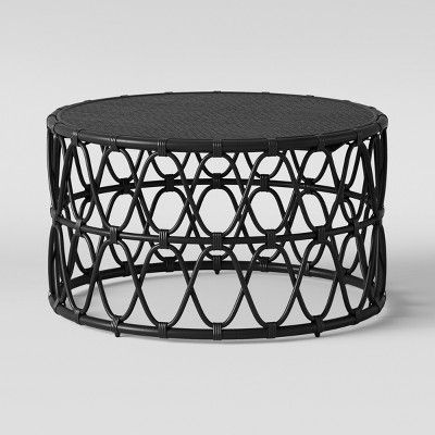 Marvelous Jewel Round Coffee Side Table Set Black Opalhouse Machost Co Dining Chair Design Ideas Machostcouk