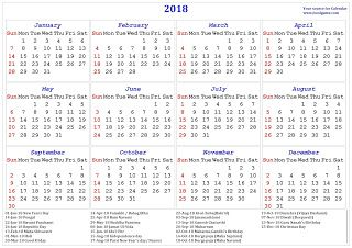 2018 Calendar India Download Calendar Download India Holiday