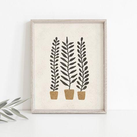 Potted Ferns Wall Art Print - 24x30