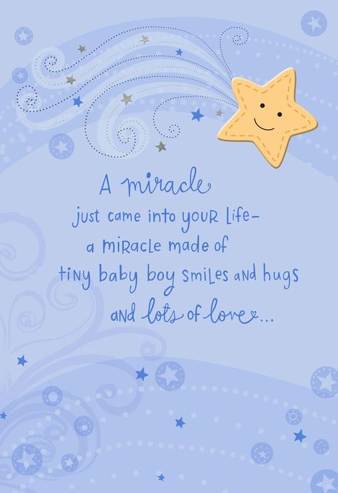 A Miracle Came Into Your Life New Baby Boy Card - Greeting Cards - Hallmark