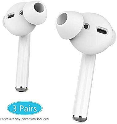 White AhaStyle AirPods Pro Ear Hooks【Added Storage Pouch】 Anti-Slip Ear Covers Accessories【Not Fit in The Charging Case】 Compatible with AirPods Pro