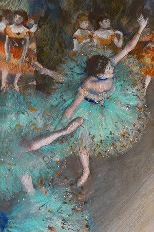 Green Dancer, ca. 1878 ~ Edgar Degas