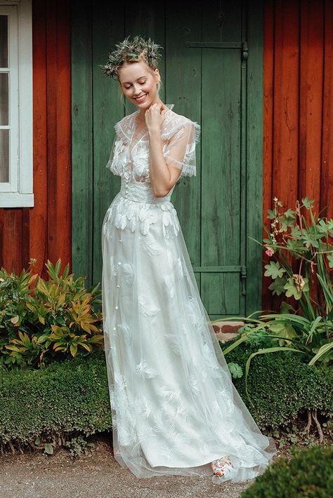Robe de mariée Constance Fournier I Collection 2019 I Robe Märit I Création unique sur-mesure I Souliers Aymée (anciennement Alix de La Forest) & Constance Fournier