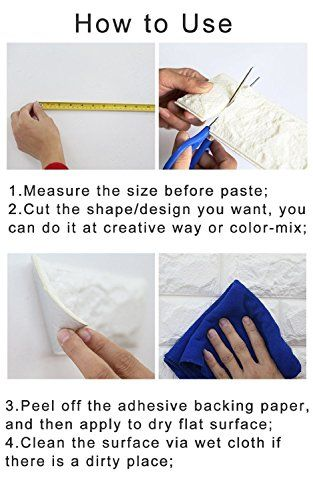 38 Square Feet 3d Padded Wall Panel Easy Peel And Self Stick Setup 3d Wave 10 Pcs Brick Pattern Wallpaper Patterned Wallpaper Bedroom Tv Decor
