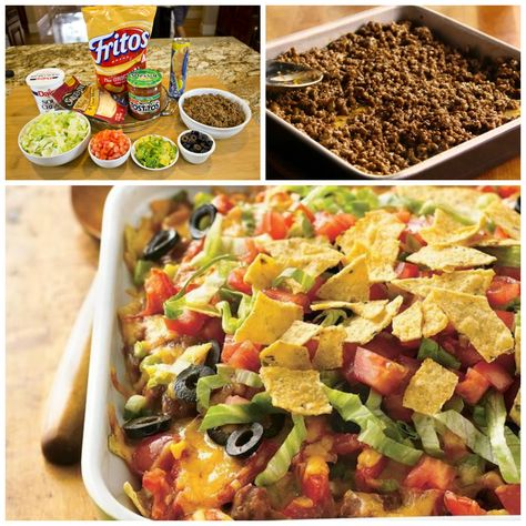 Tasty taco ingredients combine in this easy casserole topped with crunchy Frito Laychips.   Related