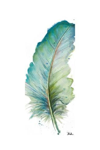 Watercolor Feather White Iv Art Print Watercolorarts Artpainting