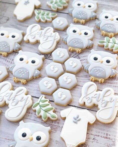 Owl Sugar Cookies, Sugar Cookie Royal Icing, Christmas Sugar Cookies, Valentine Cookies, Iced Cookies, Birthday Cookies, Heart Cookies, Easter Cookies, Shower Cakes
