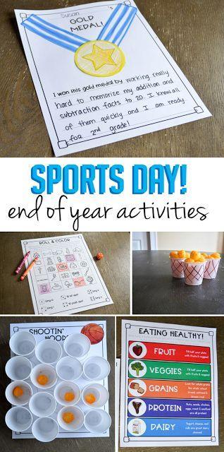 Sports Day End Of Year Activities Susan Jones End Of Year Activities Sports Day Activities First Grade Activities