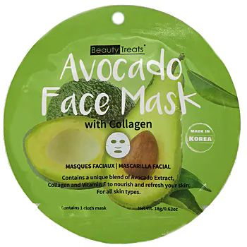 Beauty Treats Avocado Face Sheet Mask With Collagen