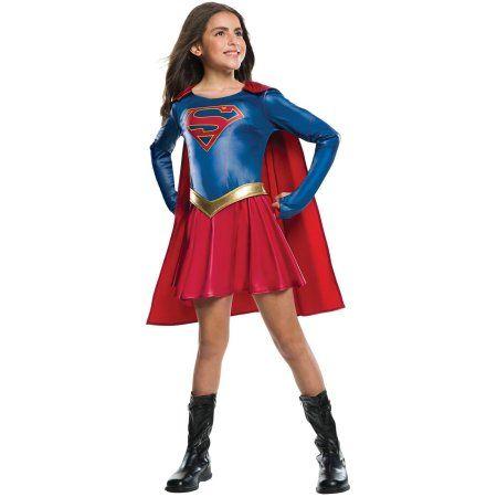 LADIES SUPERGIRL SUPERMAN SUPERHERO TV COMICS COSPLAY FANCY DRESS COSTUME OUTFIT
