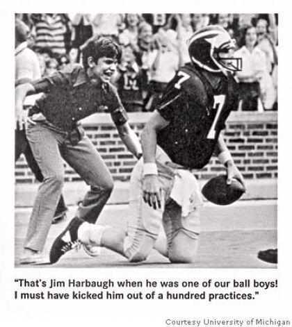Jim Harbaugh, Michigan ball boy!