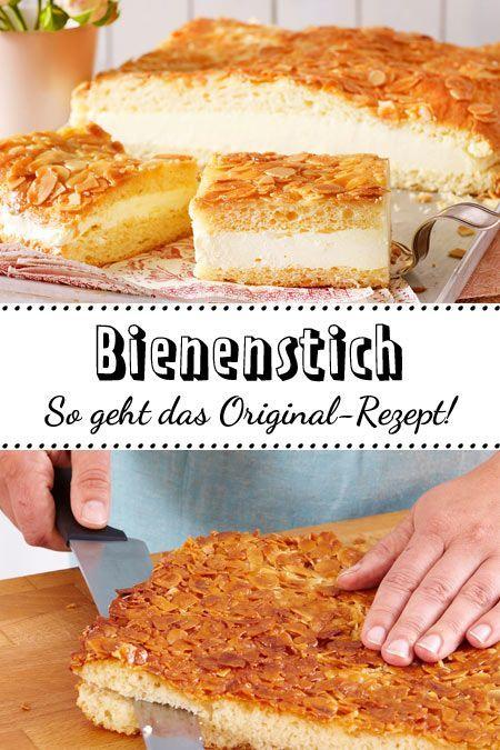 Bienenstich Rezept Zum Selbermachen Lecker Bienenstich Rezept Kuchen Rezepte Einfach Bienenstich Kuchen