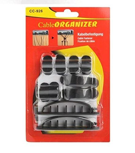 10pcs Cable Cord Wire Line Organizer Plastic Clips Ties Fixer Fastener Holder