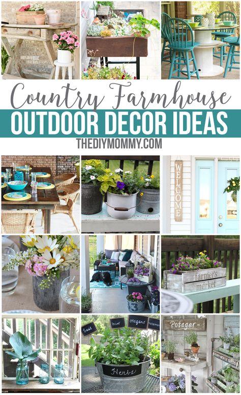 Farmhouse Outdoor Decor Diy, Country Outdoor Decor