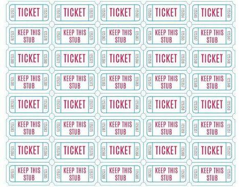 List of Pinterest raffle tickets printable templates design ...