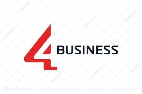 number 4 Logo unique logo