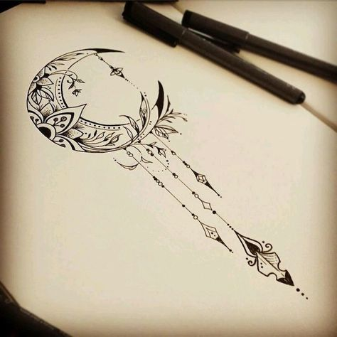moon drawing, mandala meaning, white background, black and white sketch