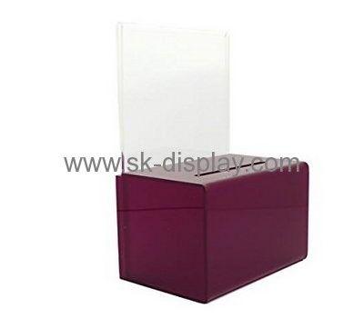Plastic fabrication company custom acrylic collection box
