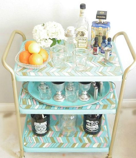 One blogger turned a cruddy piece into a display-worthy accessory. #barcart #diy