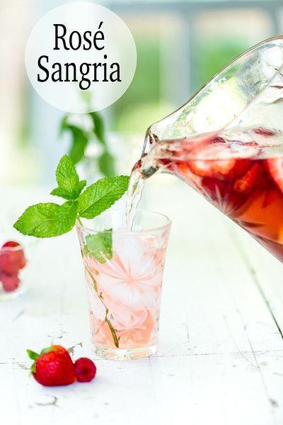 Rose Sangaria Recipe Rose Sangria Fancy Drinks Easy Drink